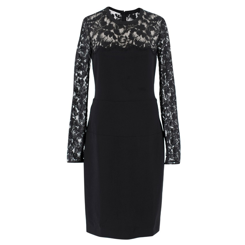 Stella McCartney Lace Detail Fitted Dress