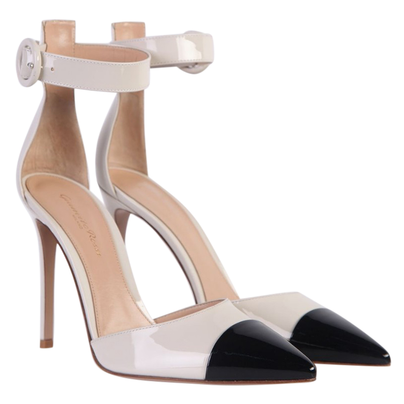 Gianvito Rossi Two Tone Patent Sandals