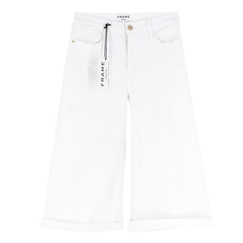 Frame White Denim Culottes