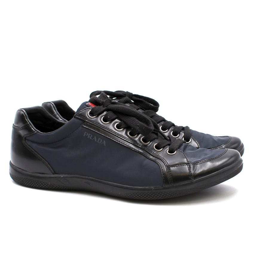 Prada Mens Navy And Black Trainers  e29088c5a