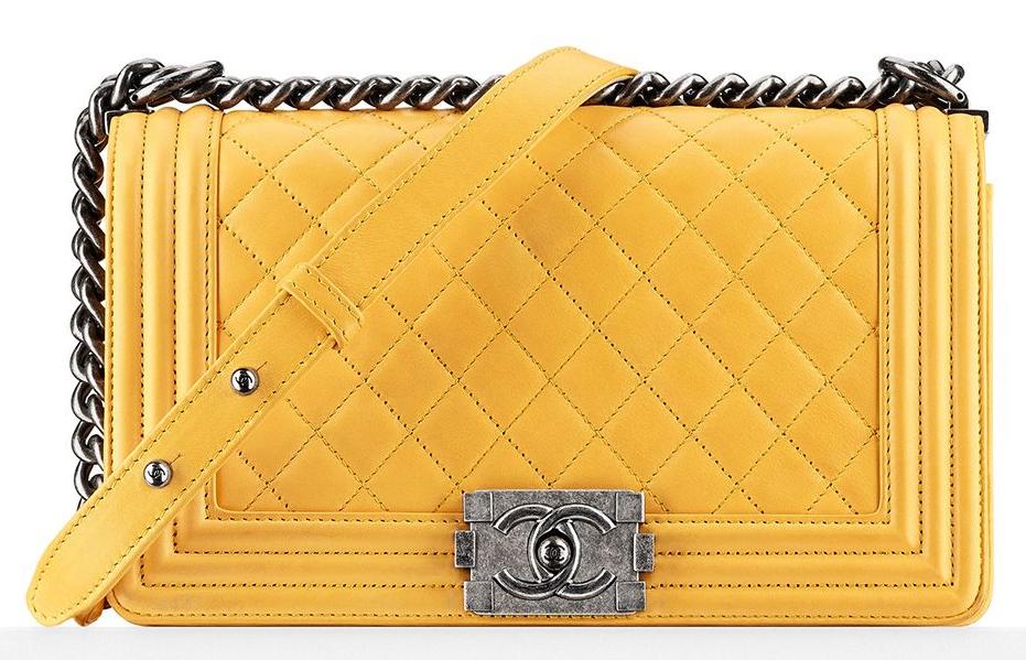056d5f09caa4 Chanel Yellow Xl Boy Bag