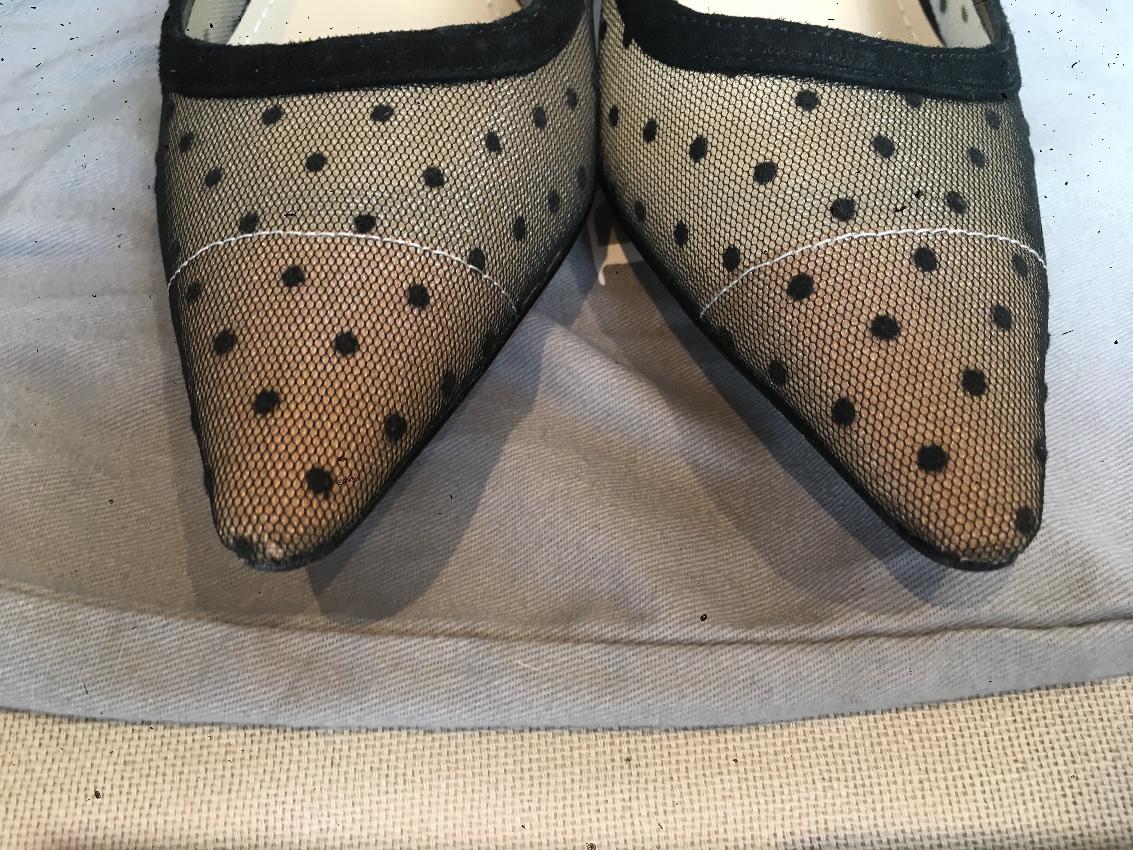 3bb13483d51c Dior Nude   Black Dotted Swiss J adior Sling-back Pumps. 29. 12345678910