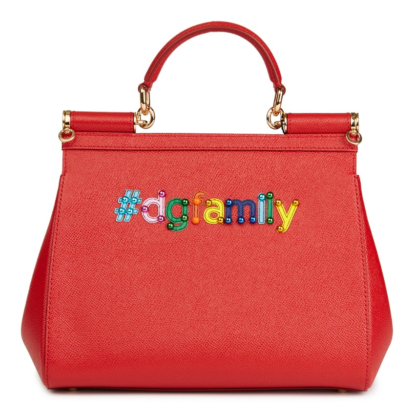 Dolce   Gabbana Beaded Dauphine Leather DG Family Medium Sicily Bag. 29.  12345678910 45bbaf0dd06ae