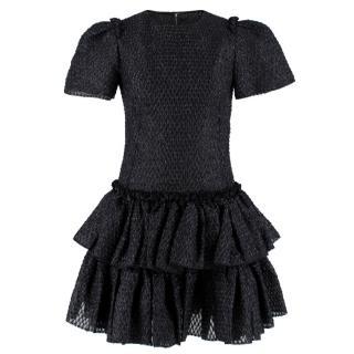 Dolce & Gabbana Black Raffia Silk Dress