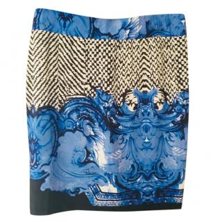 Roberto Cavalli printed fitted skirt, size L NEW