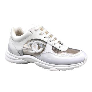 Chanel White Transparent CC SS18 Trainers