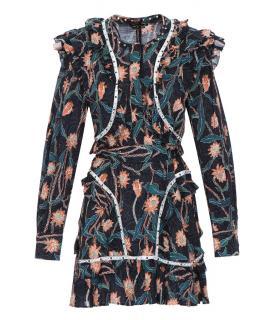 Isabel Marant 'Ullo' embellished floral print dress