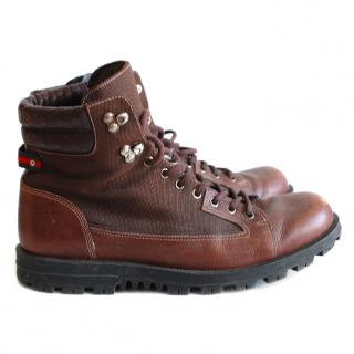 Gucci Men's Brown Ankle Boots