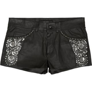 Isabel Marant leather embellished shorts