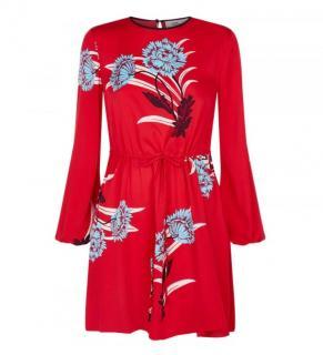 Diane Von Furstenburg SS18 silk mini dress