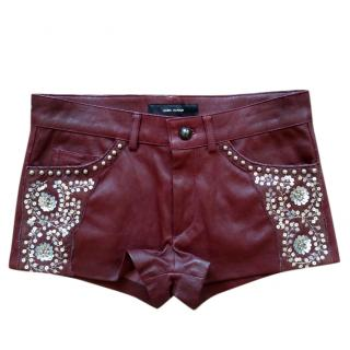 Isabel Marant leather shorts
