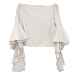 Alice+Olivia white off the shoulder blouse top