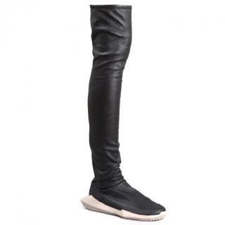 Rick Owens X Adidas Leather stretch runner boots