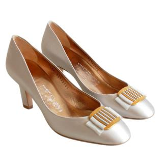 Salvatore Ferragamo Metallic Pumps