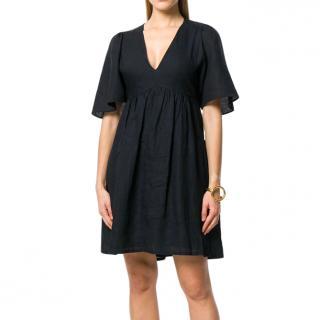 Isabel Marant Etoile SS18 Black Linen Dress
