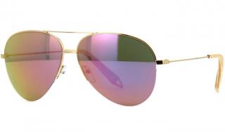 Victoria Beckham mirrored rose gold aviator sunglasses