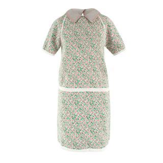Miu Miu Floral Knitted Top and Skirt Coordinate Set