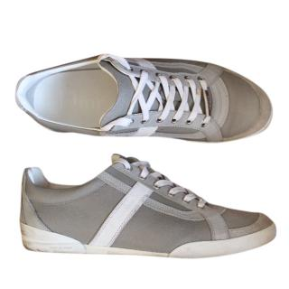 Dior Men's Grey and Silver Sneakers