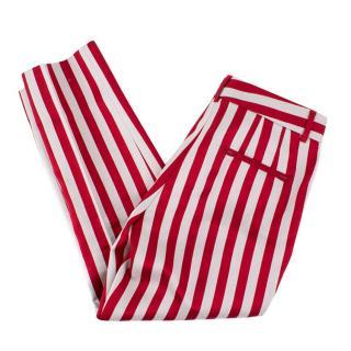 Dolce & Gabbana Striped Cigarette Trousers