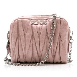 Miu Miu Mini Blush Matelasse Camera Bag