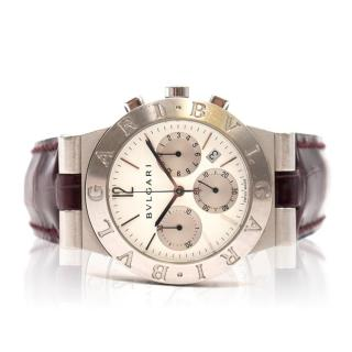 Bulgari Diagono CH35S stainless steel White dial 35mm auto watch