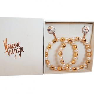 Venessa Arizaga 'Honey Honey' Large Hoop Earrings