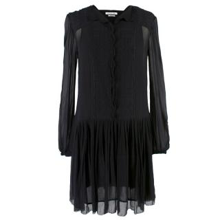 Isabel Marant Etoile Sheer Embroidered Drop Waist Dress