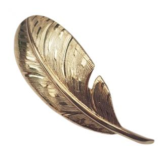 Christian Dior Vintage Feather Gold tone Brooch.