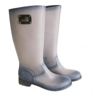 Love Moschino rubber wellies