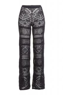 Emilio Pucci Black Crochet Pants