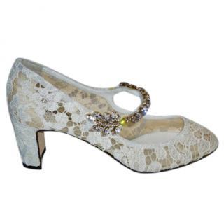 Dolce & Gabbana Lace Embellished Pumps