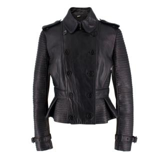 Burberry Textured Leather Jacket
