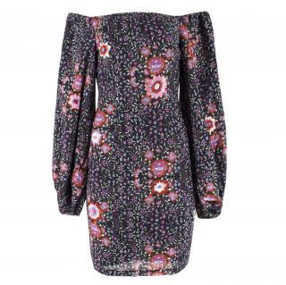 Mochi Floral Embroiderd Bardot Dress