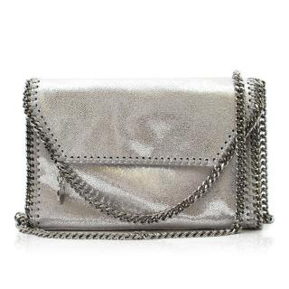 Stella McCartney Silver Foldover Falabella Bag