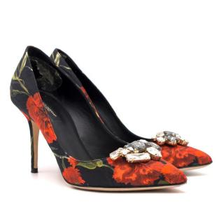 Dolce & Gabbana Floral Embellished Court Heels
