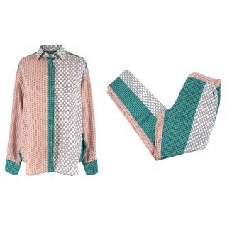 Paul & Joe Printed Silk Blouse and Trousers Set