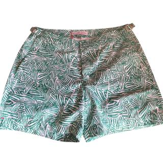 ORLEBAR BROWN Green patterned swim shorts