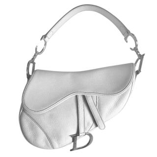 Dior timeless white saddle bag