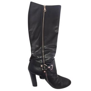 Mulberry black equestrian knee boot