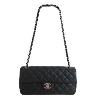 Chanel classic caviar leather single flap bag
