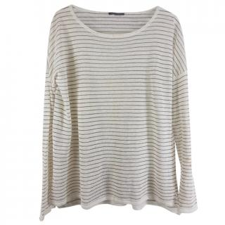 Vince boatneck striped top