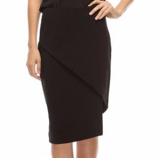 Walter Baker black front slit pencil skirt