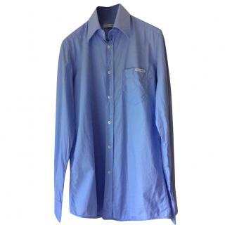 Dolce & Gabbana blue cotton men's shirt