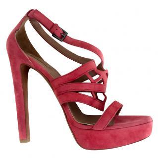Alaia geranium pink sandals
