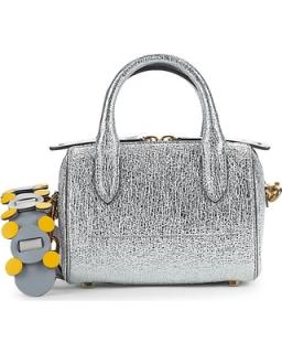 Anya Hindmarch Vere Mini Metallic Leather Barrel Bag