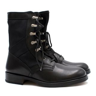 Versace Men's Lace Up Stivaletto Boots