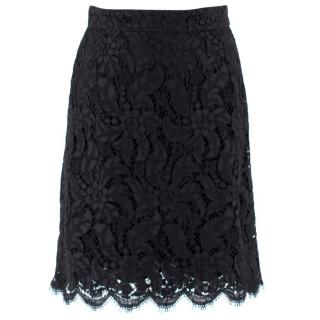 Dolce & Gabbana Black Lace Skirt