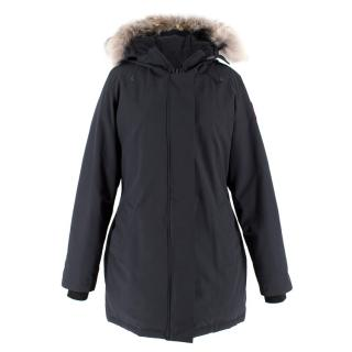 Canada Goose Fur Trim Hooded Parka Coat