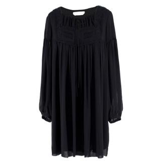 See By Chloe Silk Oversize Mini Dress