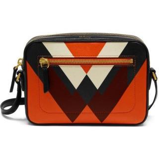 Mulberry Orange Printed Camera Bag